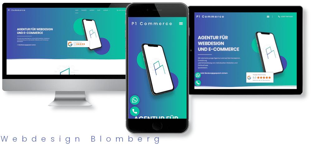 Webdesign Blomberg webdesigner